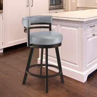 Homan 30 Swivel Bar Stool Red Barrel Studio