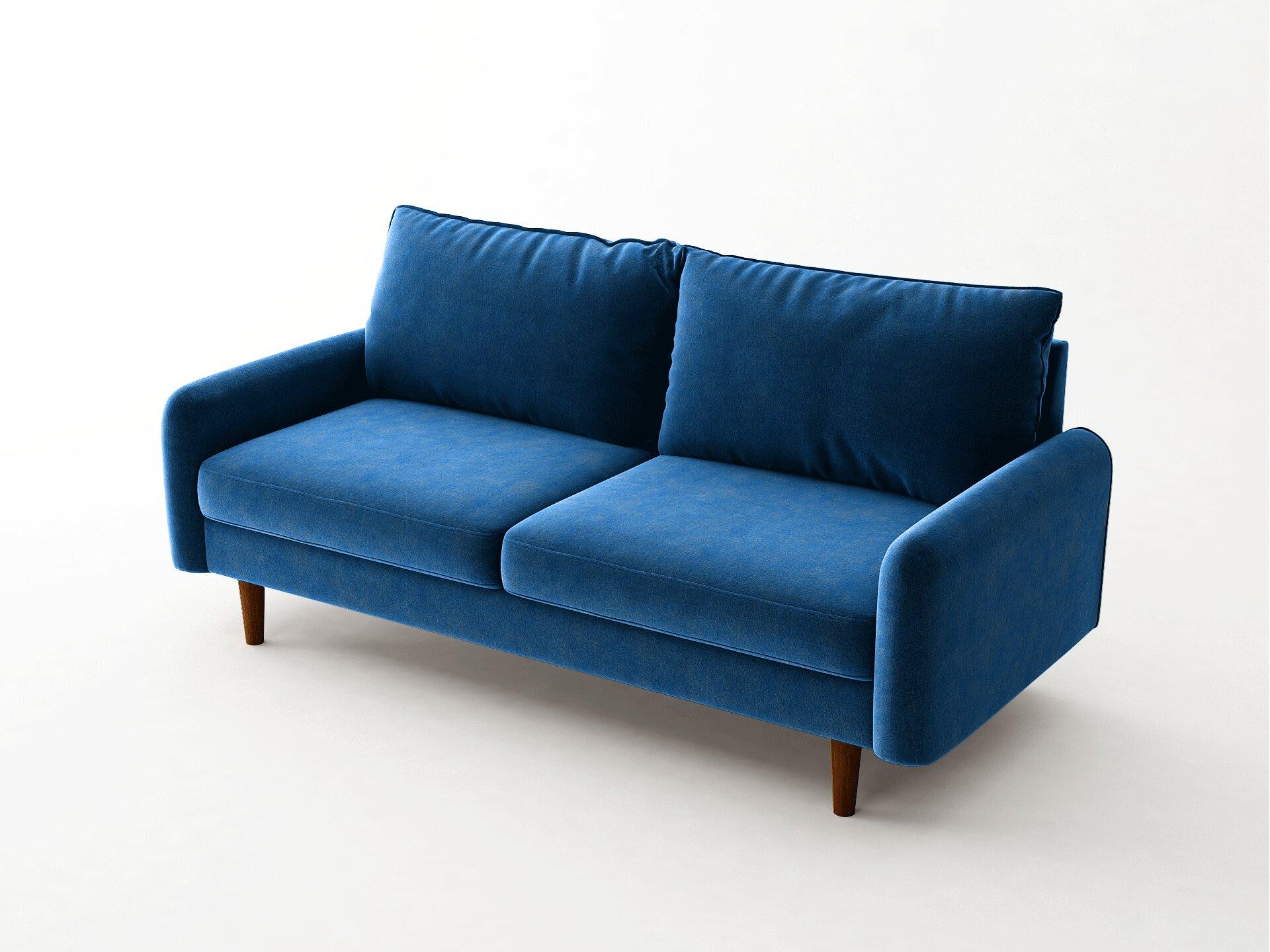 Everly Quinn Lewellen 71 6 Wide Velvet Square Arm Sofa Reviews Wayfair