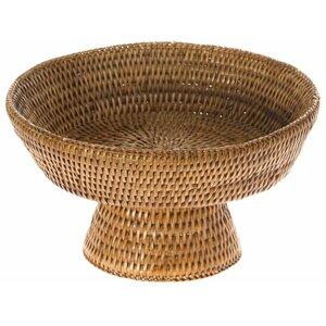 Blanchard Pedestal Rattan Fruit Bowl