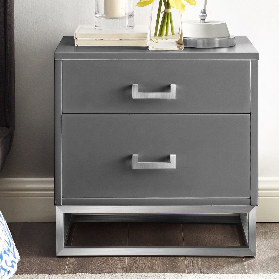 Nicole Miller Raees 2 Drawer Nightstand Reviews Wayfair