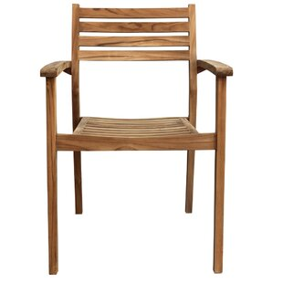 Sylvan Stacking Teak Patio Dining Chair