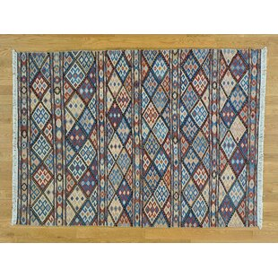 Buying One-of-a-Kind Clark Soumak with Caucasian Design Handwoven Wool Area Rug By Isabelline