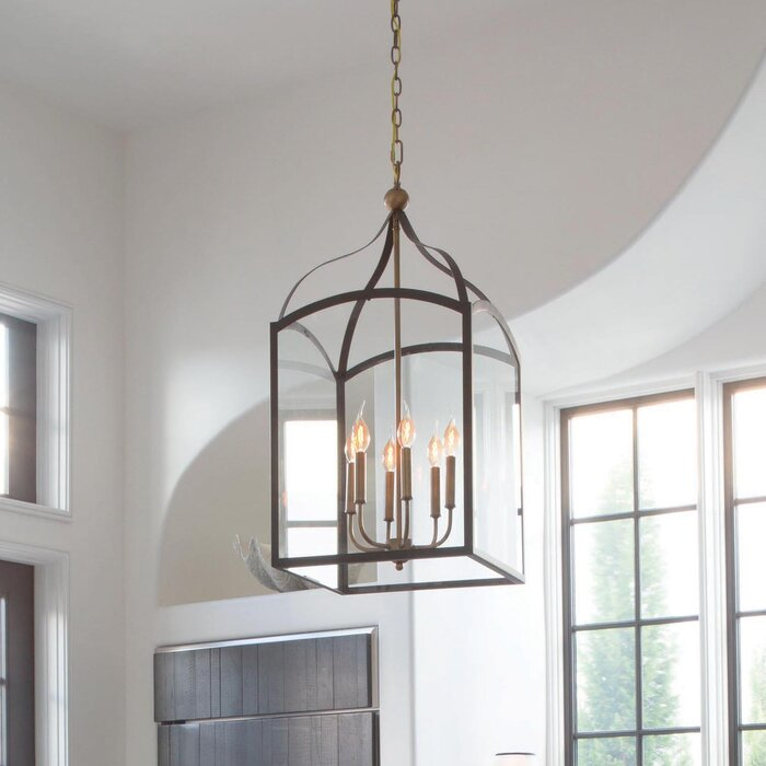 Jeremie 6 Light Foyer Lantern Pendant
