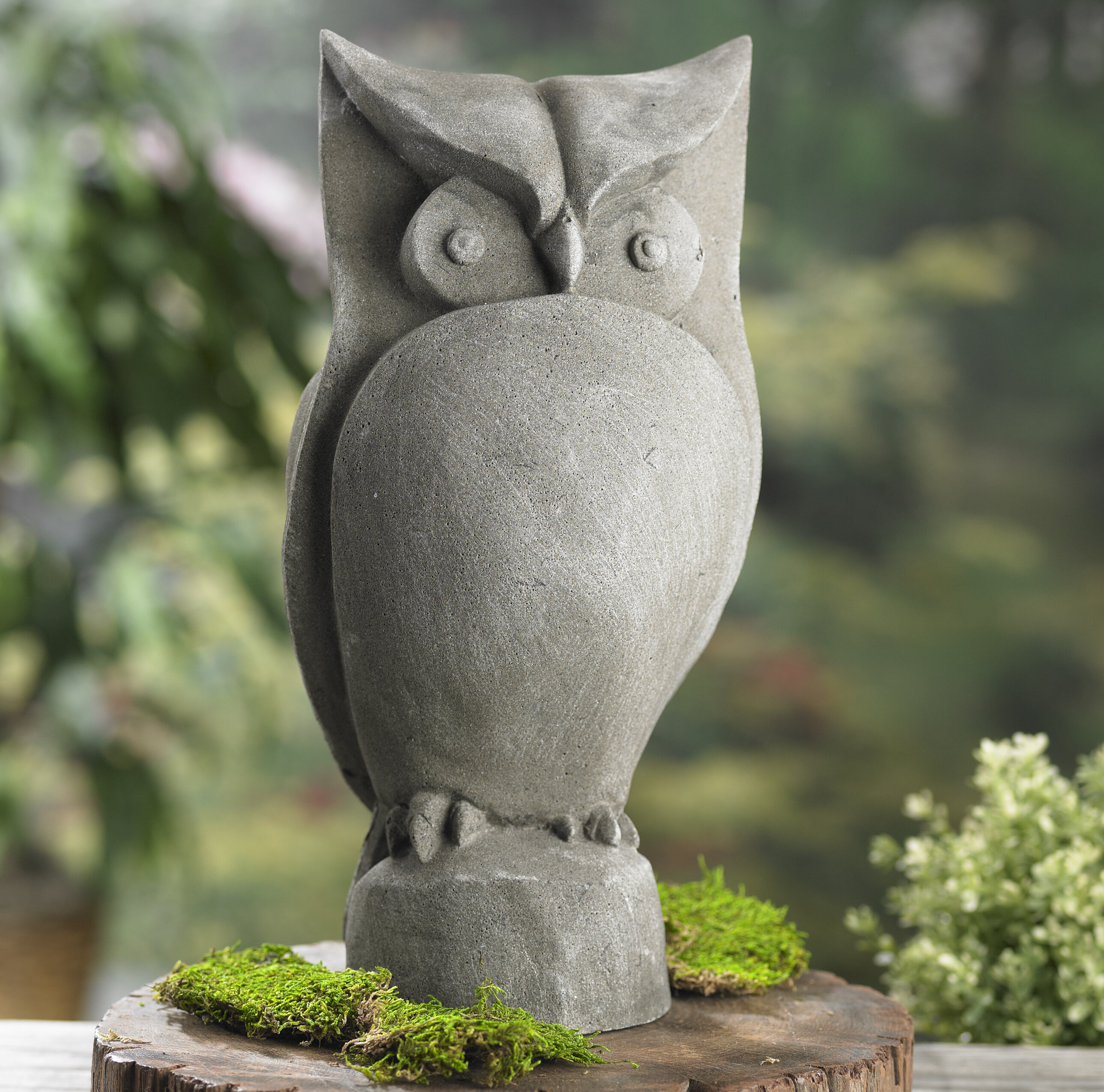 Owl Garden Statue Metal Bird Sculpture Tree Outdoor