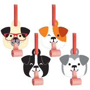 Dog Plastic/Paper Disposable Party Favor Set