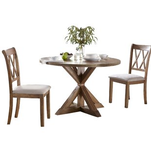 Skyline Pedestal 3 Piece Dining Set Ophelia & Co.