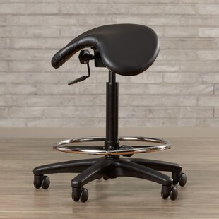 Bouley Height Adjustable Backless Lab Stool with Saddle Seat