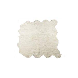 Shayne Square Off White Faux Sheepskin Area Rug