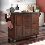 Iyana Kitchen Cart with Granite Top by Charlton Home®