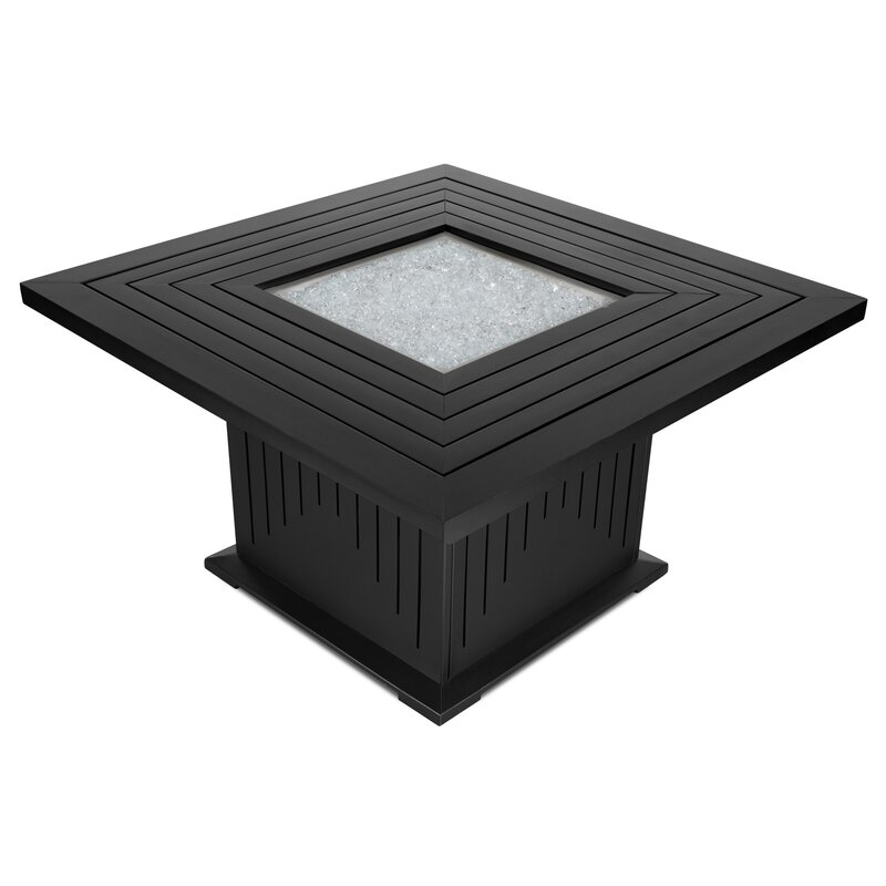 Real Flame Cavalier Aluminium Propane Fire Pit Table Wayfair - Black propane fire pit table