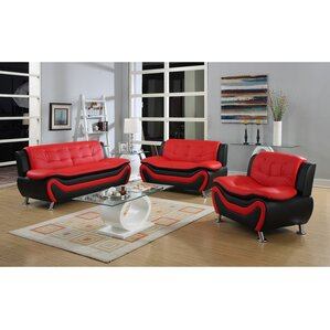 Living In Style Fiorina 3 Piece Living Room Set