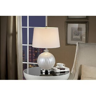 Comparison Howarth Glass 25.5 Table Lamp By Charlton Home