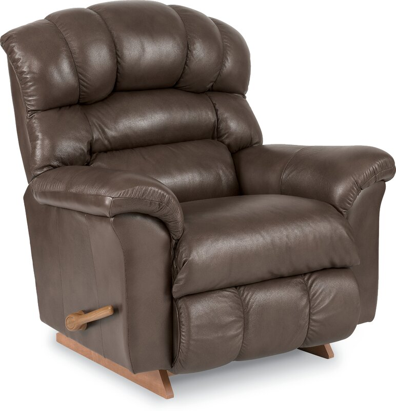 Crandell Leather Recliner  sc 1 st  Wayfair : la z boy maverick recliner - islam-shia.org