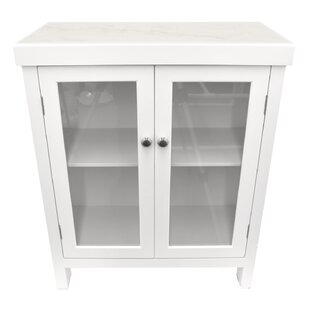 Beautiful Lakeview Wood 2 Door Accent Cabinet With Marble Top