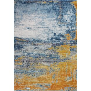 Price comparison Heilman Blue/Tangerine Area Rug By Wrought Studio