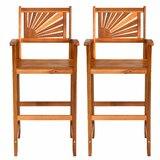 Luxora Acacia Wood 29.5 Bar Stool (Set of 2) by Bay Isle Home