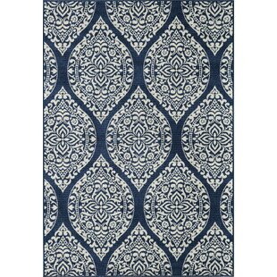 Craine Blue Indoor/Outdoor Area Rug