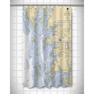 Ellisburg Chesapeake Bay, MD-VA Polyester Shower Curtain by Longshore Tides