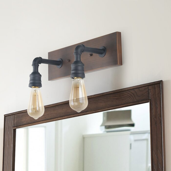 check out b57b3 c4d83 Musson Water Pipe Wall 2-Light Vanity Light
