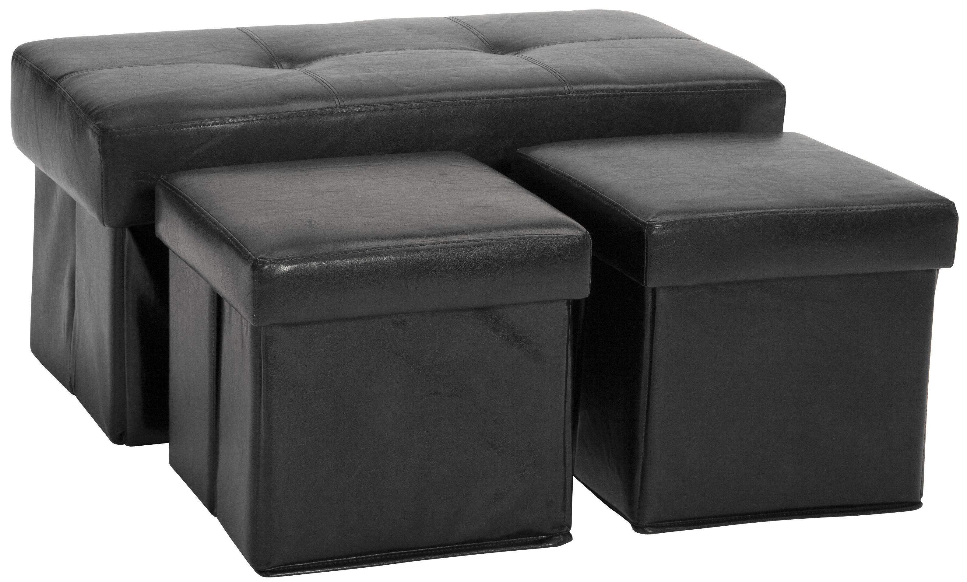 Wondrous 3 Piece Storage Ottoman Set Gmtry Best Dining Table And Chair Ideas Images Gmtryco