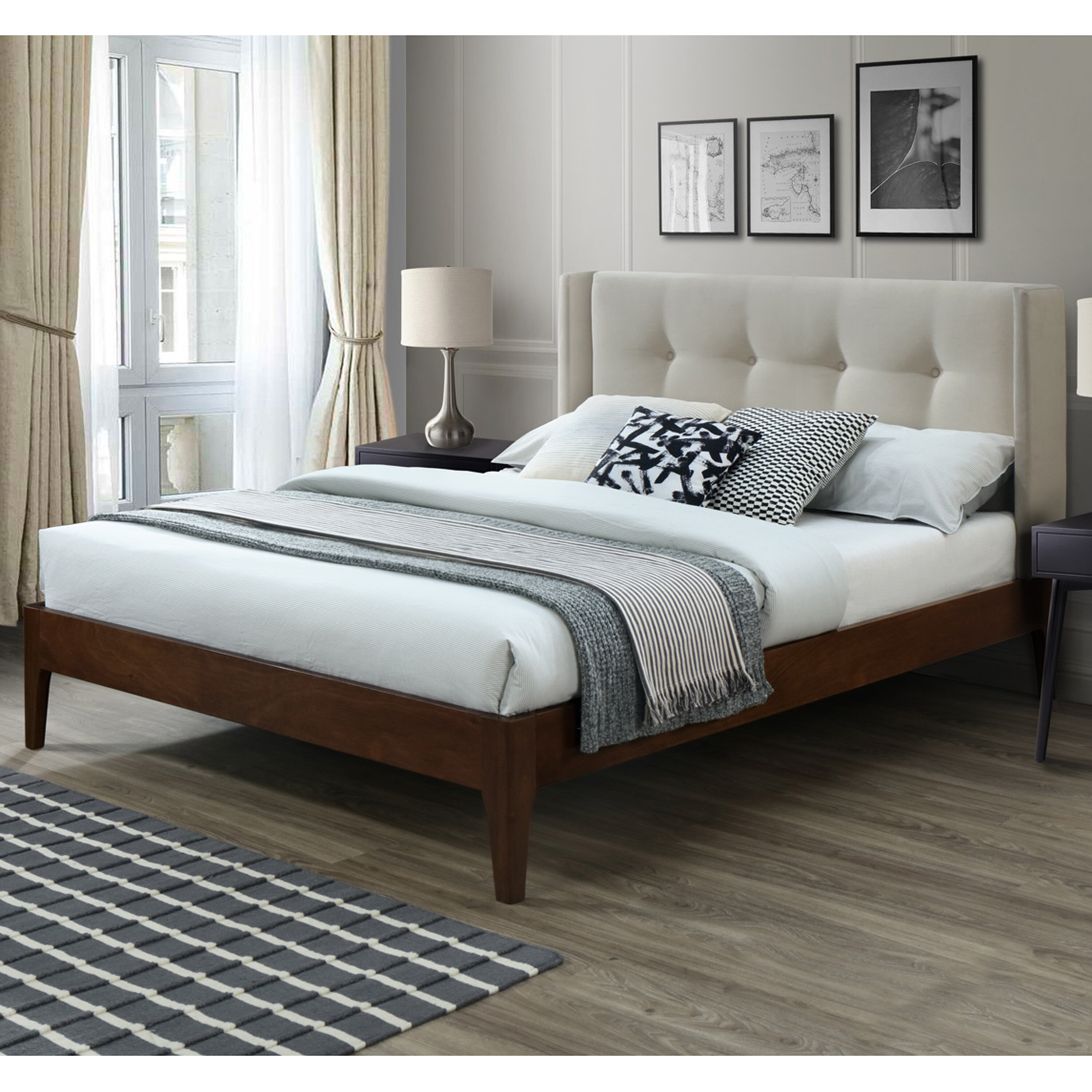 Canora Grey Birdsall Conway Queen Upholstered Platform Bed Reviews