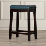 Russett Upholstered Stool by Three Posts