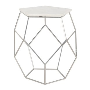 Dormody Pentagon Marble End Table