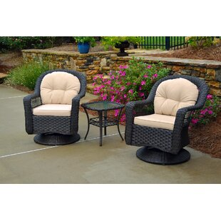 Sledge 3 Piece Conversation Set with Cushions