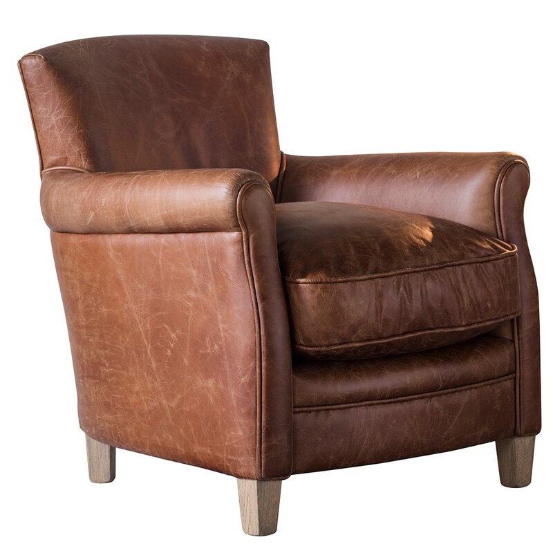 Corrigan Studio Madison Leather Armchair | Wayfair.co.uk