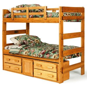 Extra Tall Twin over Twin Bunk Bed wit..