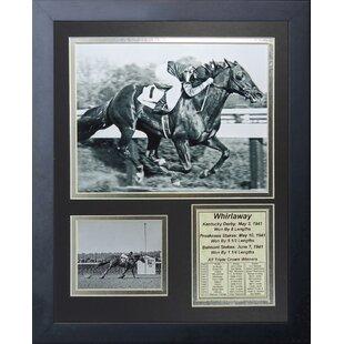 Whirlaway - 1941 Triple Crown Winner Framed Memorabilia By Legends Never Die