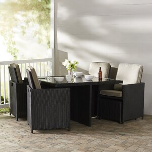 Homedale 9 Piece Dining Set with Cushions
