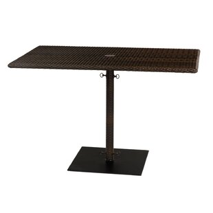 Looking for All-Weather Rectangular Umbrella Dining Table with Weighted Base Best price