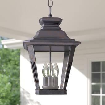 Bloomsbury Market Mckew Bronze 1 Bulb 17 13 H Outdoor Hanging Lantern Wayfair