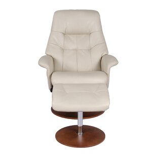 Fondren Manual Swivel Recliner with Ottoman