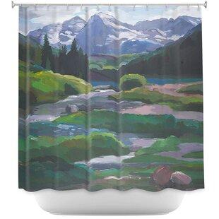 Maroon Bells Aspen Single Shower Curtain