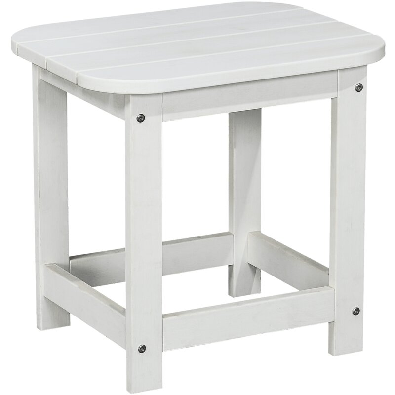 Compact Outdoor Side Table Stone Grey