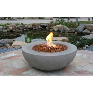 Lunar Concrete Propane Fire Pit Table