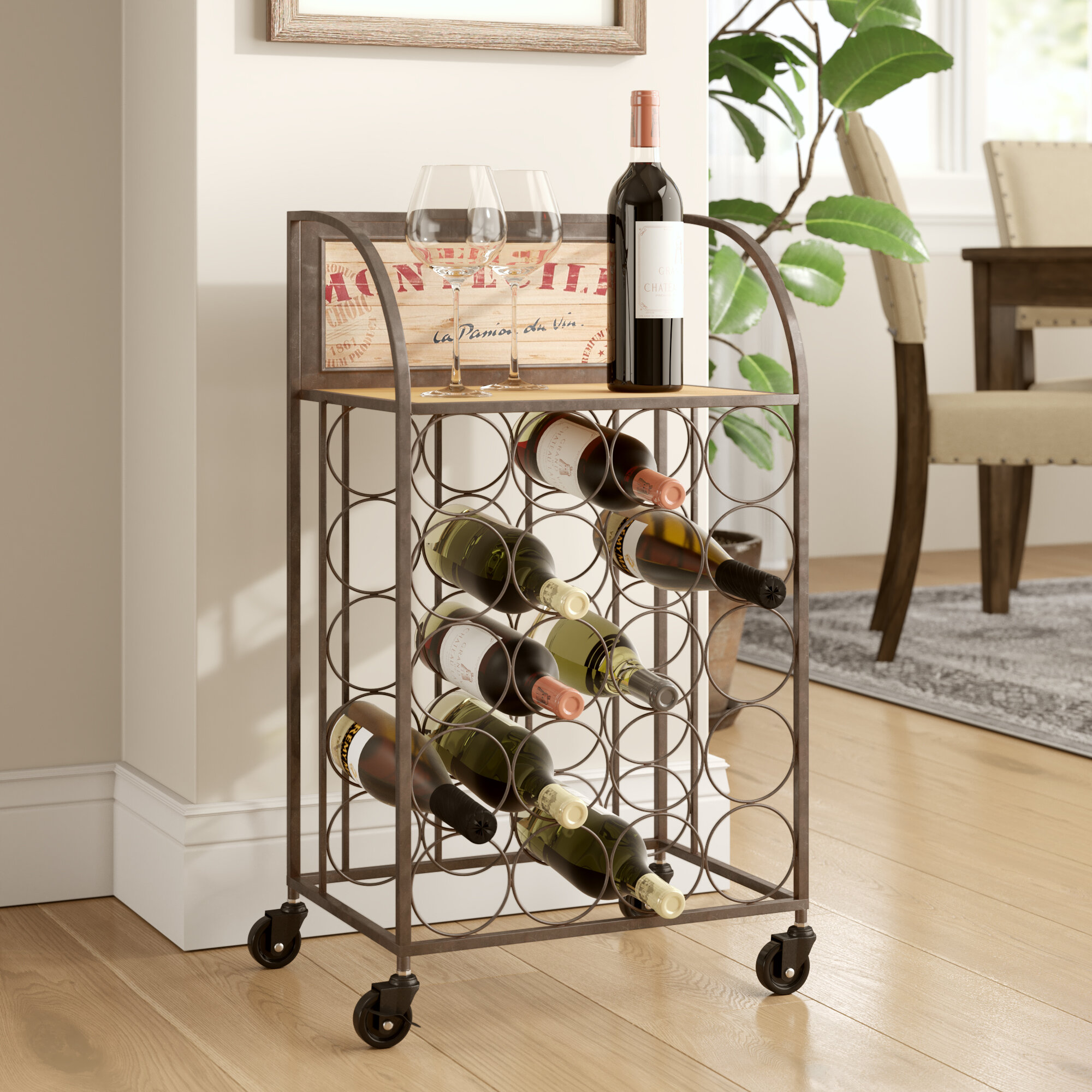 e96ca30c7b Lark Manor Goulette 20 Bottle Floor Wine Rack & Reviews | Wayfair