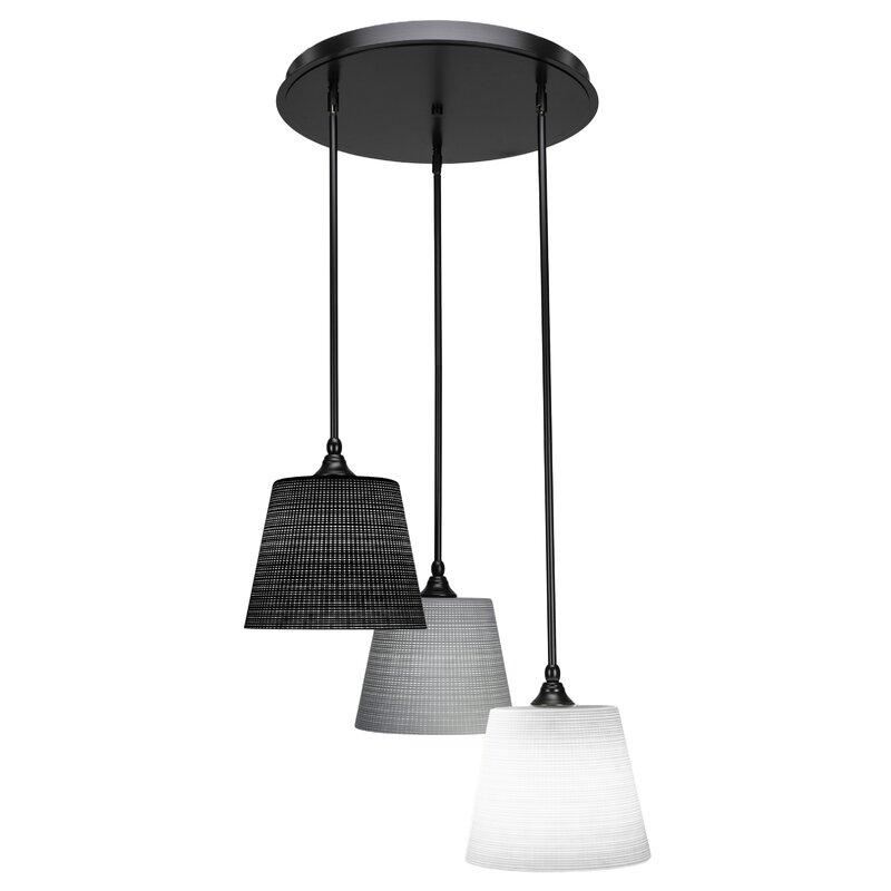 Ebern Designs Shamar 3 Light Cluster Cone Pendant Wayfair