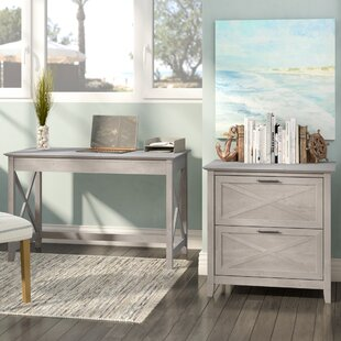 Oridatown Writing Desk with Lateral File by Beachcrest Home
