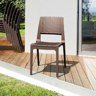 Kesler Stacking Patio Dining Chair (Set of 2)