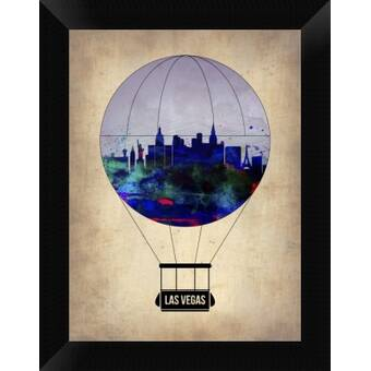 Naxart Las Vegas Air Balloon Framed Graphic Art Print On Canvas Wayfair