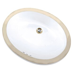 Inexpensive Maple Vitreous China Oval Undermount Bathroom Sink with Overflow ByMansfield Plumbing Products