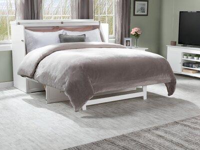 Kimsey Queen Storage Murphy Bed with Mattress