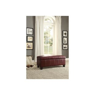 Jarrow Lift-up Faux Leather Storage Bench by Fleur De Lis Living