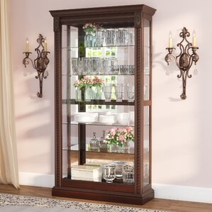 Dunstaffnage Lighted Curio Cabinet by Astoria Grand
