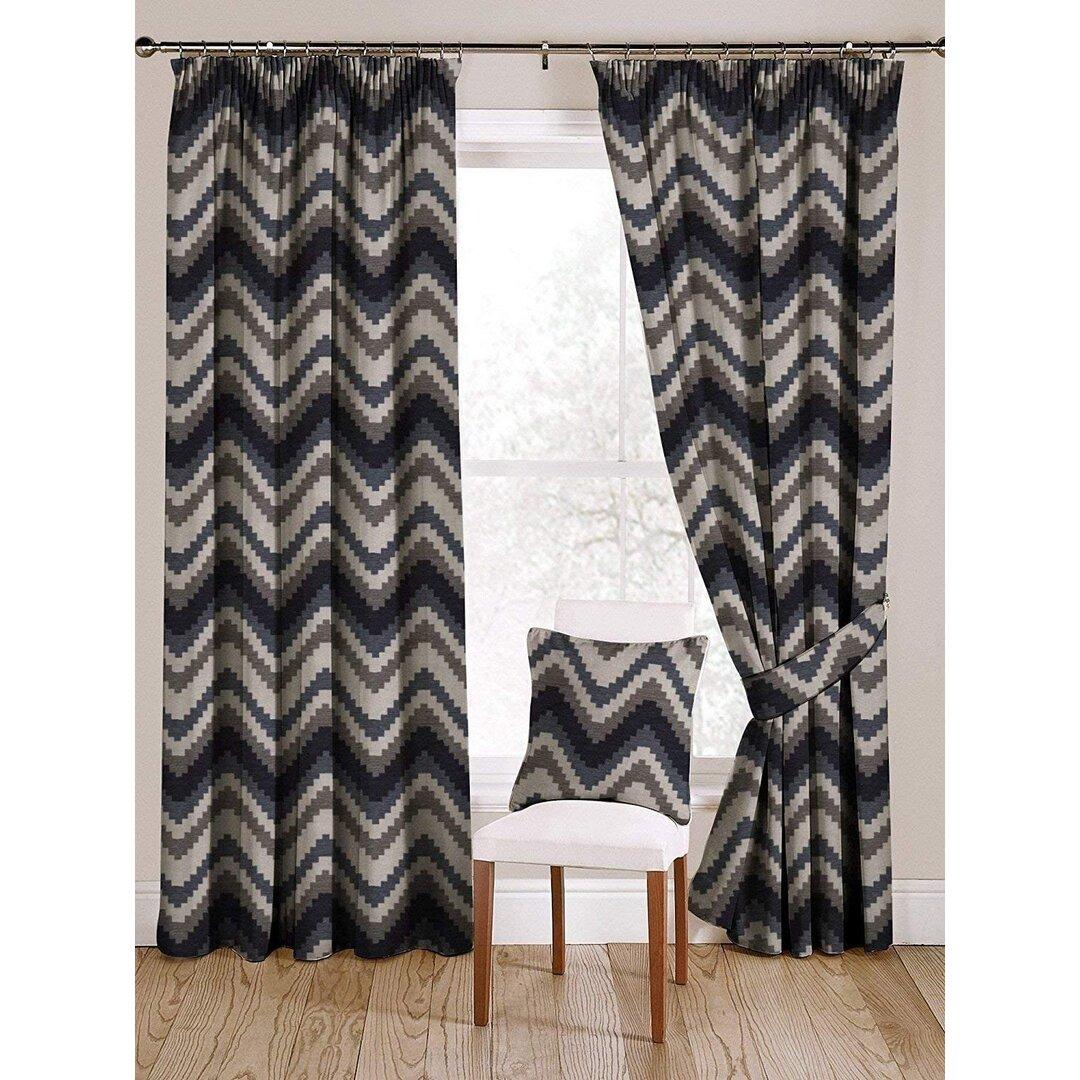 Zenaida Navajo Pencil Pleat Blackout Thermal Curtains