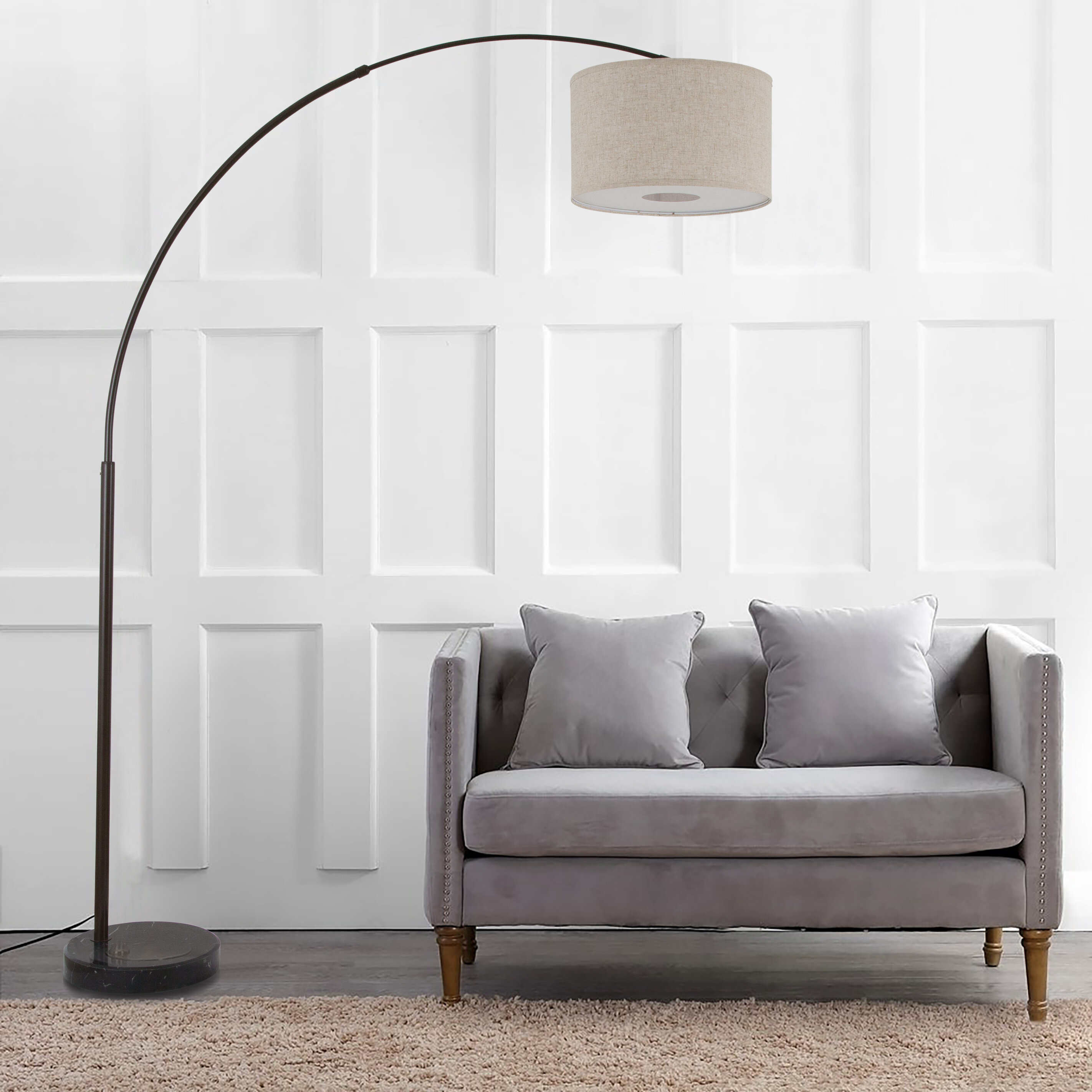 "Changir 9"" Arched Floor Lamp"