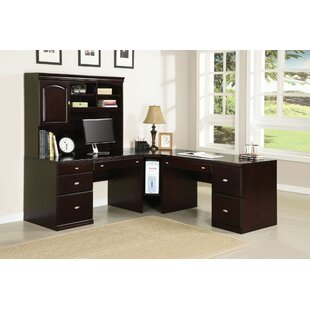 Lakey 5 Piece L-Shape Desk Office Suite